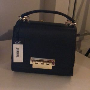 Zac Posen mini top handle black